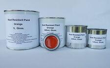 Orange Heat Resist Paint, Gloss Brake Caliper Engine Metal Body Steel