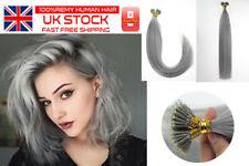 """16""""18""""20""""Nano Ring Human Hair Extensions 50g Natural Straight Real Black Blonde"""