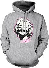 Marilyn Mo Beauty Mustache Movie Star Pinup Girl Woman Legend Hoodie Sweatshirt