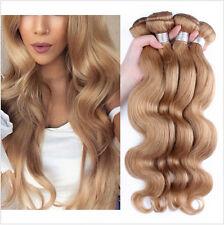 3 Bundles Blonde #27 Peruvian Virgin Hair Body Wave 100% Human Hair Extensions