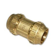 PE Rohr Verschraubung Messing Kupplung 20 - 40 mm Muffe Klemmverbinder Fitting
