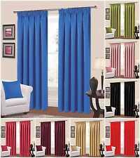 PLAIN Completamente Foderate Nastro Top Blackout Curtains - (rosso, rosa, prugna, Verde)