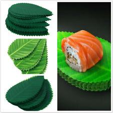 Sushi Leaf Green Leaves Dish Decor Fake Plastic Tableware 200pcs Kitchen Tool N7