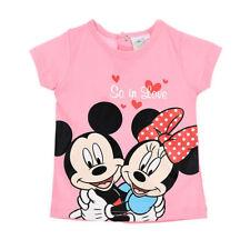 DISNEY t-shirt bébé MINNIE Mickey 6 9 12 18 ou 24 mois rose manches courtes NEUF