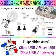 Câble USB / Micro USB + Adaptateur Micro USB 3.1 Type C pour Smartphone Tablette