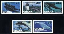 Ghana Scott# 841-5 Coastal Marine Mammals Pair Set Mnh