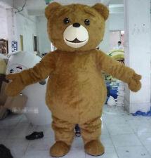 Halloween Teddy Bear Mascot Costume Cartoon Fancy Dress fast shipping Adult Size
