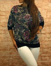 Bluse zweiteilig Tunika Oberteil Damen Pulli 3/4 Arm Shirt Gr. 38,46,48