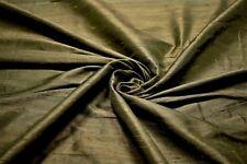 "100% Silk Fabricut Shalini Bronze Brown Drapery Fabric 54""W Textured FC13"