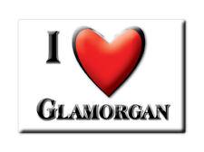 SOUVENIR UK - WALES FRIDGE MAGNET UNITED KINGDOM I LOVE GLAMORGAN