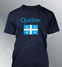 Camiseta bandera Quebec hombre aficionado fútbol coupe mundo canadá