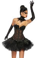 Cisne Negro Disfraz de carnaval Corsé Falda Tutu Ballet Bailarín Negro CISNE