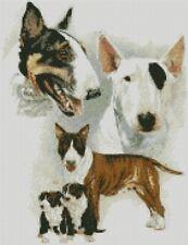 Cross stitch chart-KIT BULL TERRIER DOG