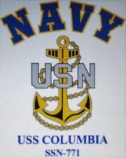 USS COLUMBIA  SSN-771* SUBMARINE* U.S NAVY W/ ANCHOR* SHIRT