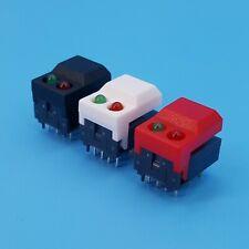 10pcs Flashlight Switches DC 12V 0.5A Self-locking Micro Push Button Switch MECA