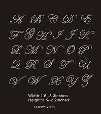 Diamante Rhinestone Crystal Iron On Letters & Numbers