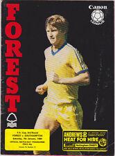 Football Programme>NOTTINGHAM FOREST v SOUTHAMPTON Jan 1984 FAC