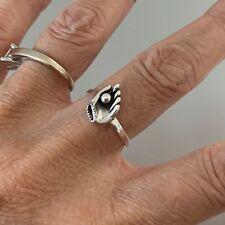 Sterling Silver Baseball Glove and Ball Ring, Silver Rings, Baseball Ring