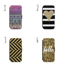 Glitter Gold Background  Wallet Flip Case Cover iPhone Samsung