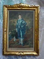 William Mailes Power Antique Gilded Frame Alfred Skrimshire Blue Boy Engraving