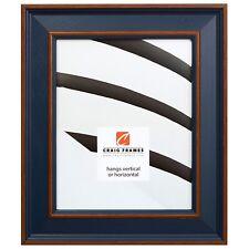 """Craig Frames 2"""" Wide Country Estate Blue Hardwood Picture Frames & Poster Frames"""