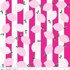 Just Add Lemons Pink Riley Blake Fabric FQ 50cm X 55cm +More 100% Cotton
