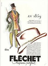 """Publicité Ancienne"""" Chapeau Fléchet  image 6 - 1962 """""""