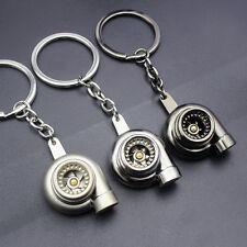 Car Creative Spinning Turbo Turbine Keychain Key Chain Ring Keyring Keyfob Gift