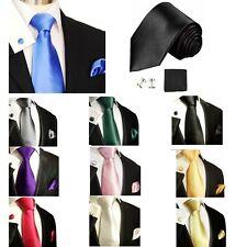 USA Classic Men's Tie Solid Classic Skinny Tie Silk 100% Jacquard Necktie Set