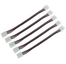 Doble Extremo Conector/Clip en tira de LED RGB 5050 Cable de extensión