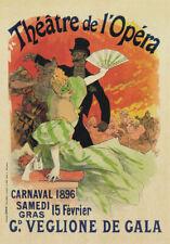 AV28 Vintage 1896 French Theatre de L'Opera Advertisment Poster Re-Print A4