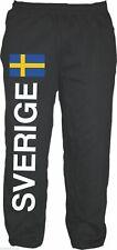 SVERIGE Jogginghose Trainingshose Jogger mit Flagge Größe M bis XXL - schweden