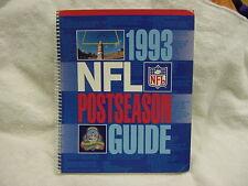 1993 Super Bowl XXVIII NFL Postseason Guide, Dallas Cowboys, VERY NICE!!