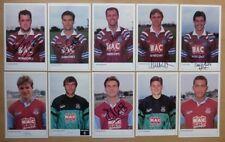 1990-92 West Ham United Firmada a Mano Oficial Del Club Tarjetas Cada - Raro