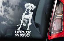 Labrador on Board - Car Window Sticker - Retriever Golden Gun Dog Sign Decal V01