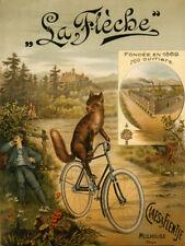 FOX Riding Bicycle Bike La Fleche Since 1869 Fine Vintage Poster Repro FREE S/H