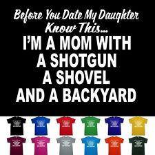 Shotgun MOM Mothers Day Funny Hunting Pro Gun T shirt   M  L  XL  2X  3X  4X  5X