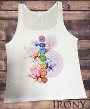 Jersey Camiseta sin mangas Diseño Geométrico Espiritual Chakra símbolos Lotus impresión JTK1333