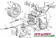 vue en éclaté transmission tracteur tondeuse EL63 XE70 CASTELGARDEN 2012-13