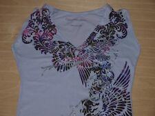 Calvin Klein Purpurina Camiseta Morado Lavanda floral