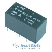 5V 12V 24V Subminiature PCB Relay DPDT 2A