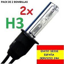 2x BOMBILLA H3 XENON 35W / 55W pack de 2 repuesto hid coche moto furgoneta