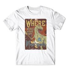 T-rex_music_4 T-Shirt 100% Cotton Premium Tee New