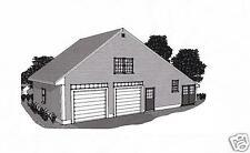 38 x 24 2 Car Garage Building Blueprint Plans Work Shop / Walk up Storage Loft
