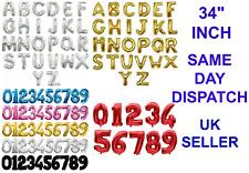 76.2cm gigante número letra Globo metalizado fiesta palabra nombre decoración
