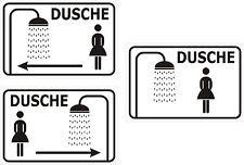 Schild DAMEN DUSCHE Türschild mit o. ohne Pfeile WC 15x20, 20x30, 30x40