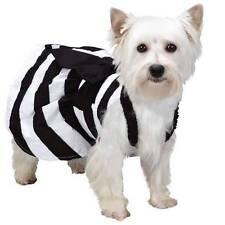 Isaac Mizrahi Dog GINGHAM STRIPED DRESS Black Designer Pet Clothes XXS XS S M