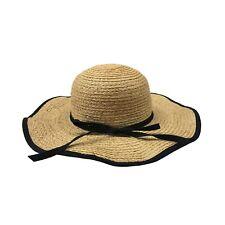 BONSUI sombrero de mujer paja de lazo negro mod BLACK TANGA HAT