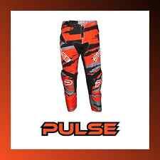 2017 PULSE KIDS YOUTH BMX PANTS - PULSE BLIZZARD NEON ORANGE & BLACK