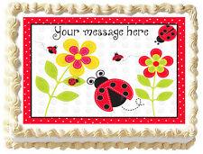 LADYBUG Lady bug Party Image Edible Cake topper